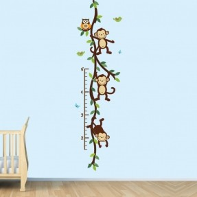 monkey-wall-decal-growth-chart-swinging-monkeys-on-vines-nursery-wall-decal-art-39-99-via-etsy
