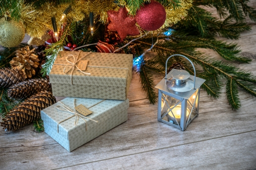 Christmas gifts in vintage style